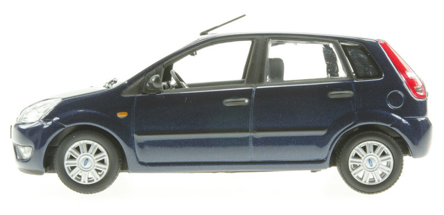Ford Fiesta 5p. serie V (2002) Minichamps 1/43 Azul Oscuro Metalizado
