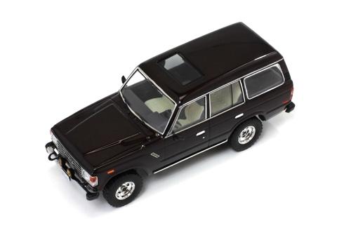 Toyota Land Cruiser (1982) Premium X 1:43 Marrón Oscuro Metalizado