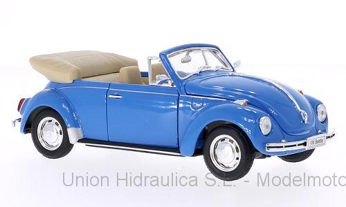 Volkswagen Escarabajo Cabriolet (1959) Welly 1:24 Azul