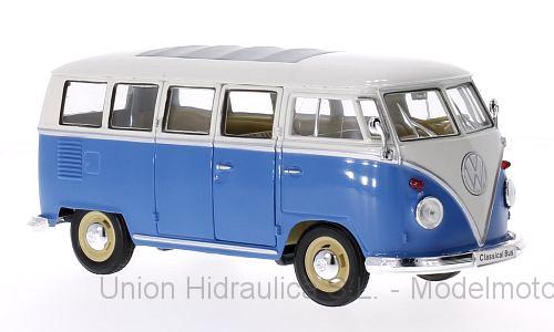 Volkswagen T1 Bus (1963) Welly 1:24 Blanco - Azul