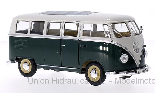 Volkswagen T1 Bus (1963) Welly 1:24 Verde - Blanco
