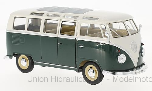 Volkswagen T1 Samba Bus (1963) Welly 1:24 Verde - Blanco