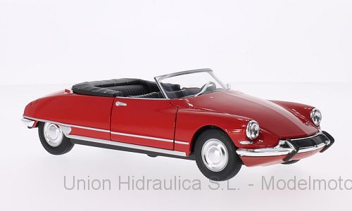 Citroen DS19 Cabriolet sin capota (1961) Welly 1:24 Rojo
