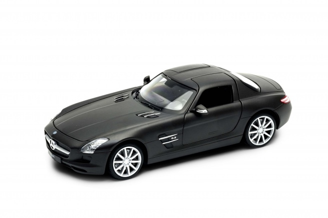 Mercedes SLS AMG -C197- (2012) Welly 1:24 Negro Mate