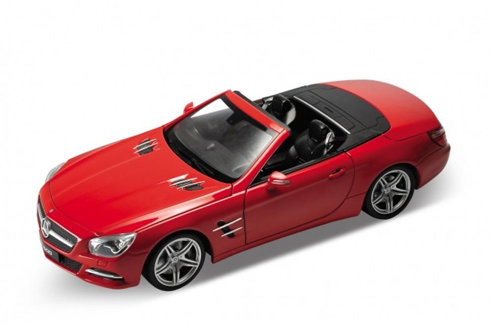 Mercedes SL500 Abierto -R231- (2012) Welly 1:24 Rojo Rojo