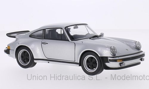 Porsche 911 Turbo 3.0 (1974) Welly 1:24 Gris Metalizado
