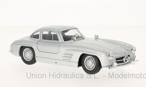 Mercedes 300 SL -W198- (1954) Welly 1:24 Gris Metalizado