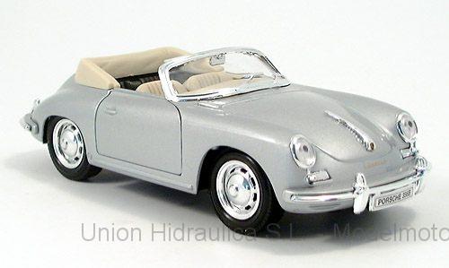 Porsche 356B (1959) Welly 1:24 Gris Metalizado