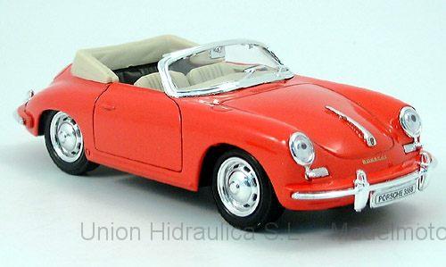 Porsche 356B (1959) Welly 1:24 Rojo