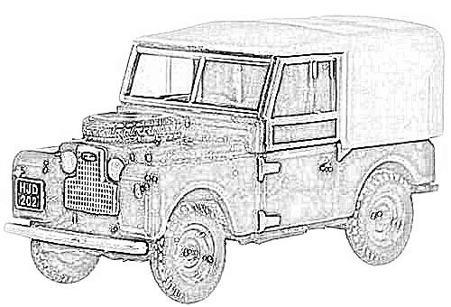 land rover series 1 2 y 3 en miniatura a escala