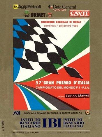 Poster del GP. de Italia de 1986
