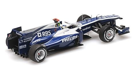AT&T Williams Cosworth FW32 nº 9 Rubens Barrichello (2010) Minichamps 417100009 1/43