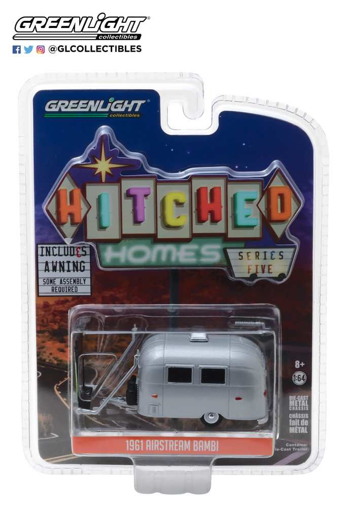 Airstream 16' Bambi con toldo (1971) Greenlight 34050F 1/64