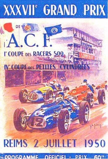 Poster del GP. F1 de Francia de 1950