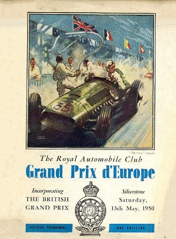 Poster del GP. F1 de Gran Bretaña de 1950