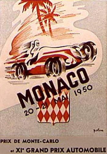 Poster del GP. F1 de Mónaco de 1950