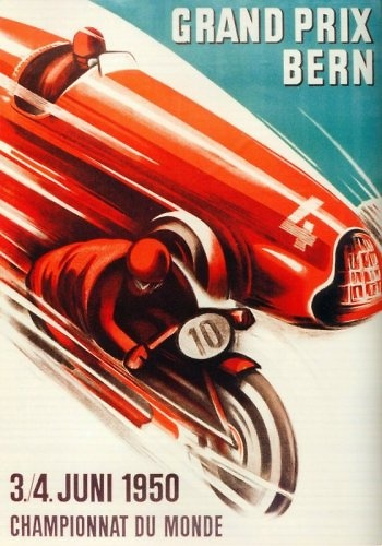 Poster del GP. de Suiza de 1950