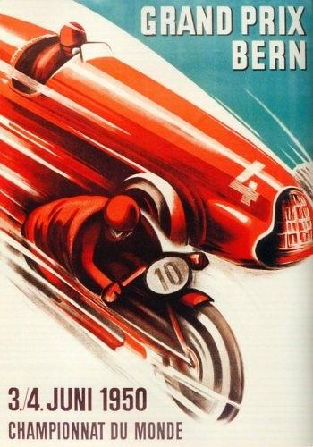 Poster del GP. F1 de Suiza de 1950