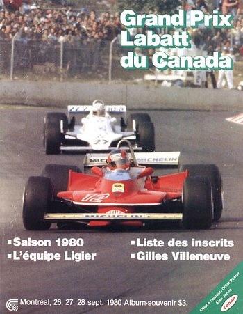 Poster del GP. F1 de Canadá de 1980