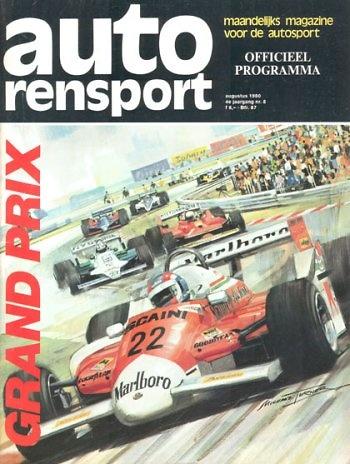 Poster GP. F1 Holanda 1980