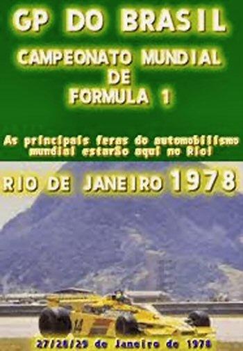 Poster del GP. F1 de Brásil de 1978