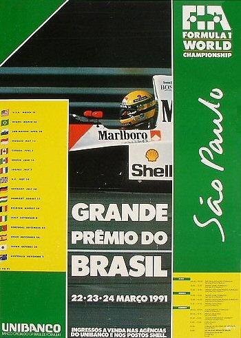 Poster GP. F1 Brasil 1991