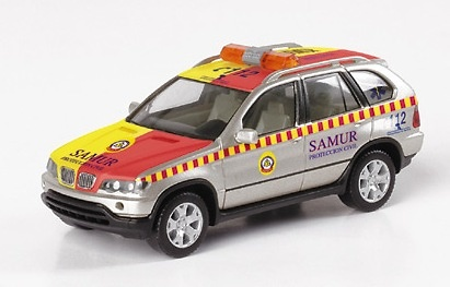 BMW X5 -E53- (2000) SAMUR Herpa 046299 1/87