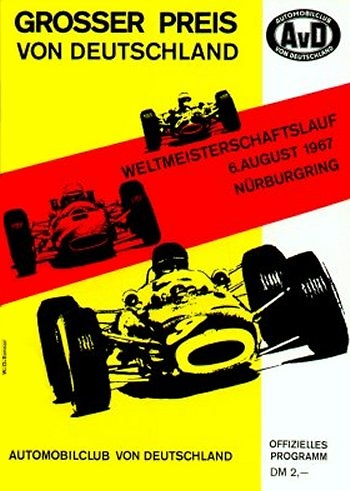 Poster GP. F1 Alemania 1967