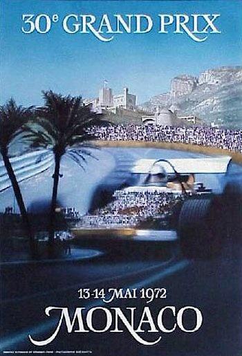 Poster GP. F1 Mónaco 1972