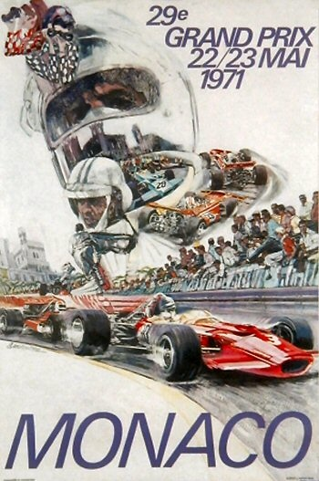 Poster del GP. F1 de Mónaco de 1971