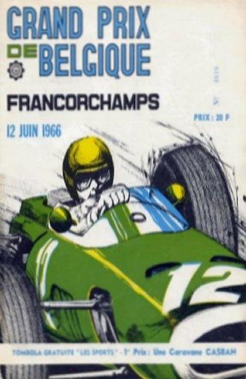 Poster GP. F1 Bélgica 1966