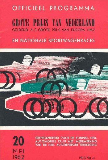 Poster del GP. F1 de Holanda de 1962