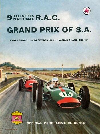 Poster del GP. F1 de Sudáfrica de 1962