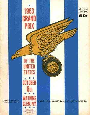 Poster del GP. F1 de USA Watkins Glen de 1963