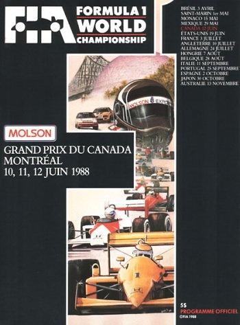 Poster del GP. de Canadá de 1988