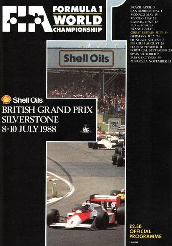 Poster del GP. de Gran Bretaña de 1988