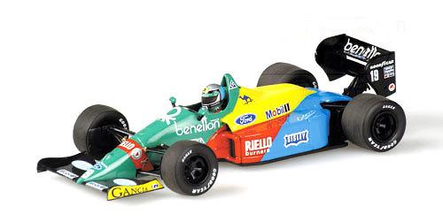 Benetton B188 nº 19 Alessandro Nannini (1988) Minichamps 400880019 1/43