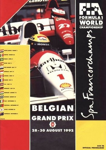 Poster GP. F1 Bélgica 1992