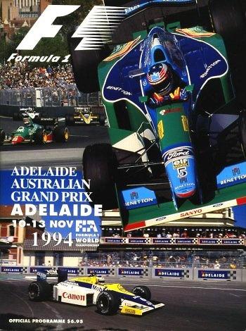 Poster del GP. F1 de Australia de 1994