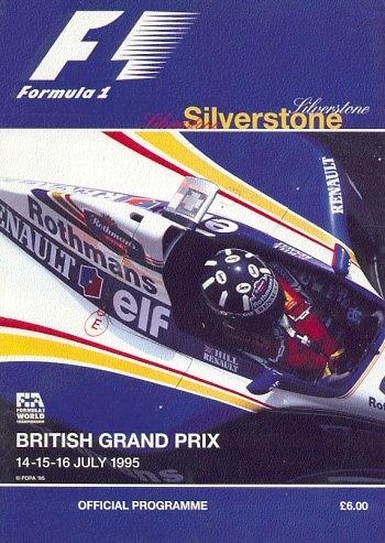 Poster del GP. F1 de Gran Bretaña de 1995