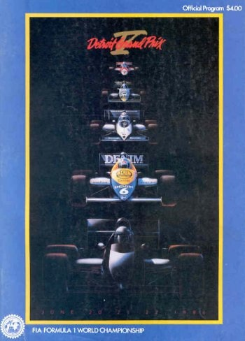 Poster GP. F1 Detroit (EEUU) 1986