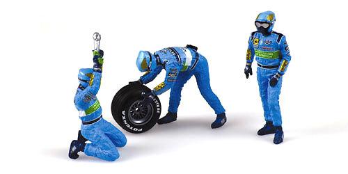 Benetton Mecánicos cambiando ruedas final (1999) Minichamps 343100013 1/43