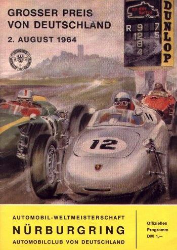 Poster del GP. F1 de Alemania de 1964