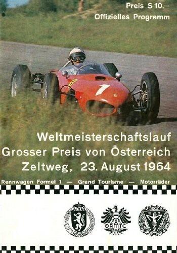 Poster GP. F1 Austria 1964