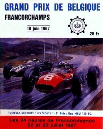 Poster del GP. F1 de Bélgica de 1958