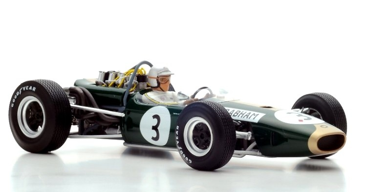 Brabham BT19 nº 3 Jack Brabham (1966) Spark 18S223 1:18