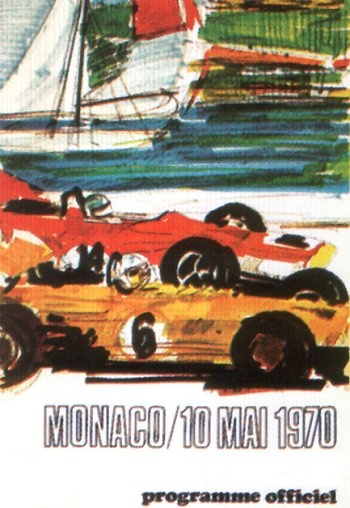 Poster del GP. F1 de Mónaco de 1970