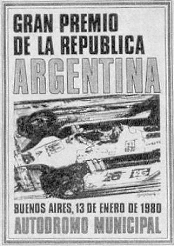 Poster del GP. F1 de Argentina de 1980