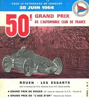 Poster GP. F1 Francia 1961