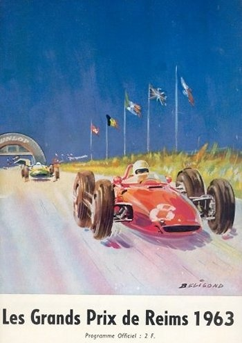 Poster GP. F1 Francia 1963